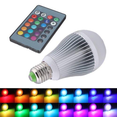 SODIAL (R) 12W E27 16 che cambia di RGB lampada della luce LED lampadina 85-265V + IR Remote Control