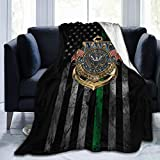 HOCLOCE Flannel Fleece Bed Throw Blanket Lightweight Cozy Plush Blanket for Bedroom Living Rooms Sofa Couch 50'x40' - United States Navy The Sea Version