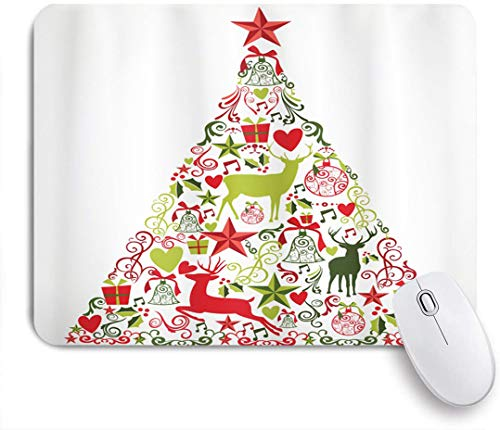 HUAYEXI Ultra Thick Waterproof Mouse Pad,Merry Christmas Themed House Decor Popular New Year Ornaments and Star Tree Topper,Works for Computers, Laptop,All Types of Mouse pad, Office/Home