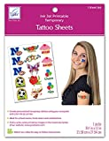 June Tailor JT-481 Inkjet Printable Temporary Tattoo Sheet, 8.5 by 11-Inch, White