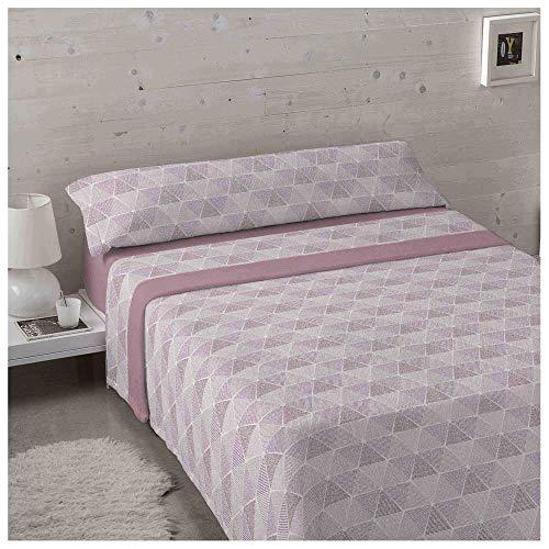 Set di lenzuola invernali in tessuto Corallina, per letto da 90 x 190/200 cm, colore: corallo