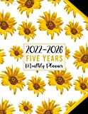 2022-2026 Five Year Monthly Planner - Pretty Sunflowers Pattern: At a Glance 60 Months Monthly & Weekly Large Schedule Organizer & Agenda with ... (Simple 5 Years Calendar Planner 2022-2026)