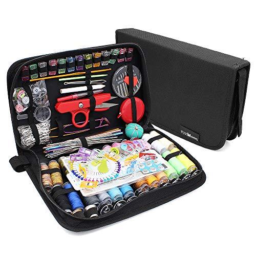 Subtop Kit de costura Premium, 282 Pcs Suministros de costura de bricolaje, Herramientas de costura portátil para el recorrido del hogar y de emergencia