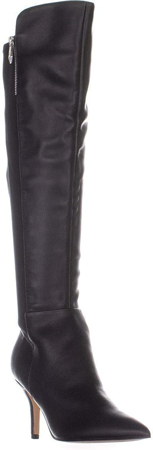Marc Fisher Thora Pointed Toe Knee High Boots, Black Multi