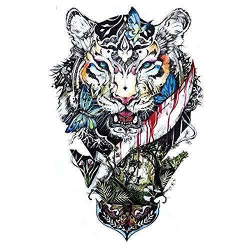 Glaryyears Uomo Arm Sleeves Tatuaggio Scoundrels Tigre Provvisorio Tatuaggio Femminile Falso Mano Tatuaggio Arte 21x15 Cm (2 Confezione) HB 745