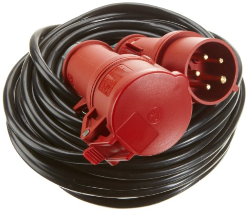 UNITEC 40582 CEE - Verlängerung, 5-polig, Kunststoffleitung H05VV - F 5G 1.5 mm²