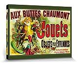 1art1 Vintage - Aux Buttes Chaumont, Jouets Et Objets Pour Étrennes, Jules Cheret, 1885 Cuadro, Lienzo Montado sobre Bastidor (80 x 60cm)