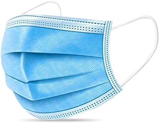 BDTTBZ Disposable Medical Face Mask Blue-250pcs, 3-Layer Earloop Filter Masks, Breathable Foldable Adjustable, Professional Personal Health Care for Unisex Adults and Kids