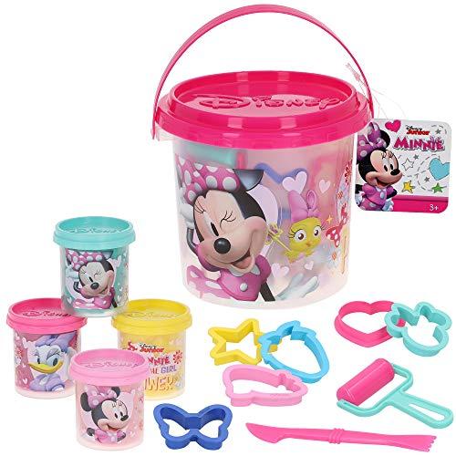 Disney - Plastilina infantil Cubo 4 botes plastilina Niños 3 años con Moldes y accesorios Plastilina no tóxica Juguetes educativos Manualidades niños Plastilina Disney