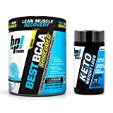 BPI Sports Best BCAA Shredded (25 Servings) and Keto Weight Loss (75 Count) Ultimate Fat Burning Weight Loss Stack (Snow Cone + Keto Weight Loss)
