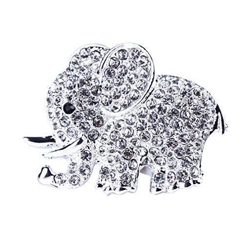 Herngxing Metall Elefant Styling Auto Parfüm Clip Auto Air Outlet Lufterfrischer, Silber