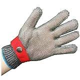 Guantes resistentes al corte, malla de acero inoxidable Malla de metal cortada a prueba de guantes Guante de trabajo de seguridad de carnicería para corte de carne, pesca para cocina, jardín
