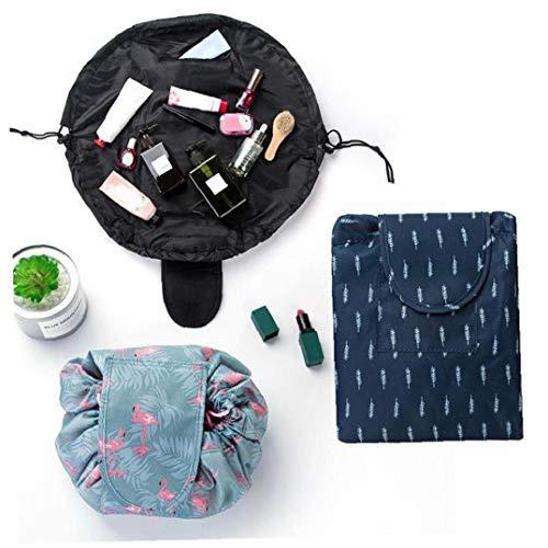 AYRSJCL cosmétique Sac de Rangement avec Cordon de Serrage de Maquillage Professionnel Organisateur Femmes Maquillage Voyage Pochette de Rangement Sacs de Toilette