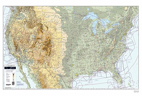 FAA Chart: U.S. VFR Wall Planning Chart (Folded) VFRWPC (Current Edition)