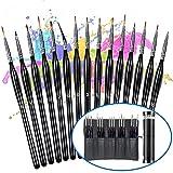 Detail Paint Brush Set 15PCS Mini Paint Brushes Miniature Paint Brushes Acrylic Oil Watercolor Brushes for Art face Oil Painting Line Drawing