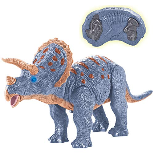 Liberty Imports Dino Planet Remote Control RC Walking Dinosaur Toy with Shaking Head, Light Up Eyes...