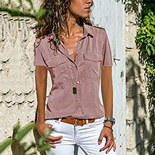 New Women's Shirts In Summer and Autumn In Europe and The United States, Lapel, Short-sleeved Shirts, Women's Wea