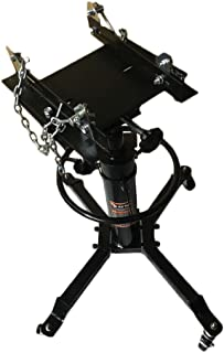 SUNROAD 2 Stage Hydraulic Transmission Jack 1100lbs Lift Hoist Foot Pump Spring Loaded with 360°Swivel Wheels