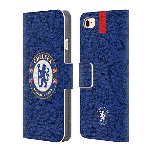 Head Case Designs Offizielle Chelsea Football Club Home 2019/20 Kit Leder Brieftaschen Handyhülle Hülle Huelle kompatibel mit Apple iPhone 7 / iPhone 8 / iPhone SE 2020