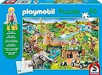 Zoo, 60 Teile, mit Add-on (Original Figur): Kinderpuzzle Playmobil mit Add-On, 60 Teile