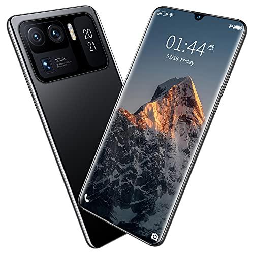 LINGZE Smartphone Android, teléfonos móviles sin SIM y desbloqueados, Pantalla HD de 7,0 Pulgadas, batería de 7200 mAh, teléfono móvil Duradero con cámara Dual SIM, Negro