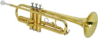 New Beginner Gold Lacquer Brass Bb Trumpet W/Case for Student School Band