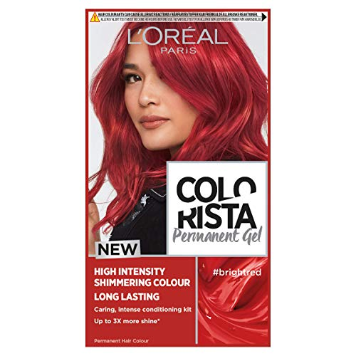L'Oreal Paris Colorista Bright Red Permanent Hair Dye Gel Long-Lasting Permanent Hair Colour