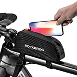 ROCKBROS Top Tube Bike Bag Bicycle Front Frame Bag Top Tube Bag Bike Accessories Pouch Compatible with iPhone 11 Pro Max/XR/XS Max 7/8 Plus