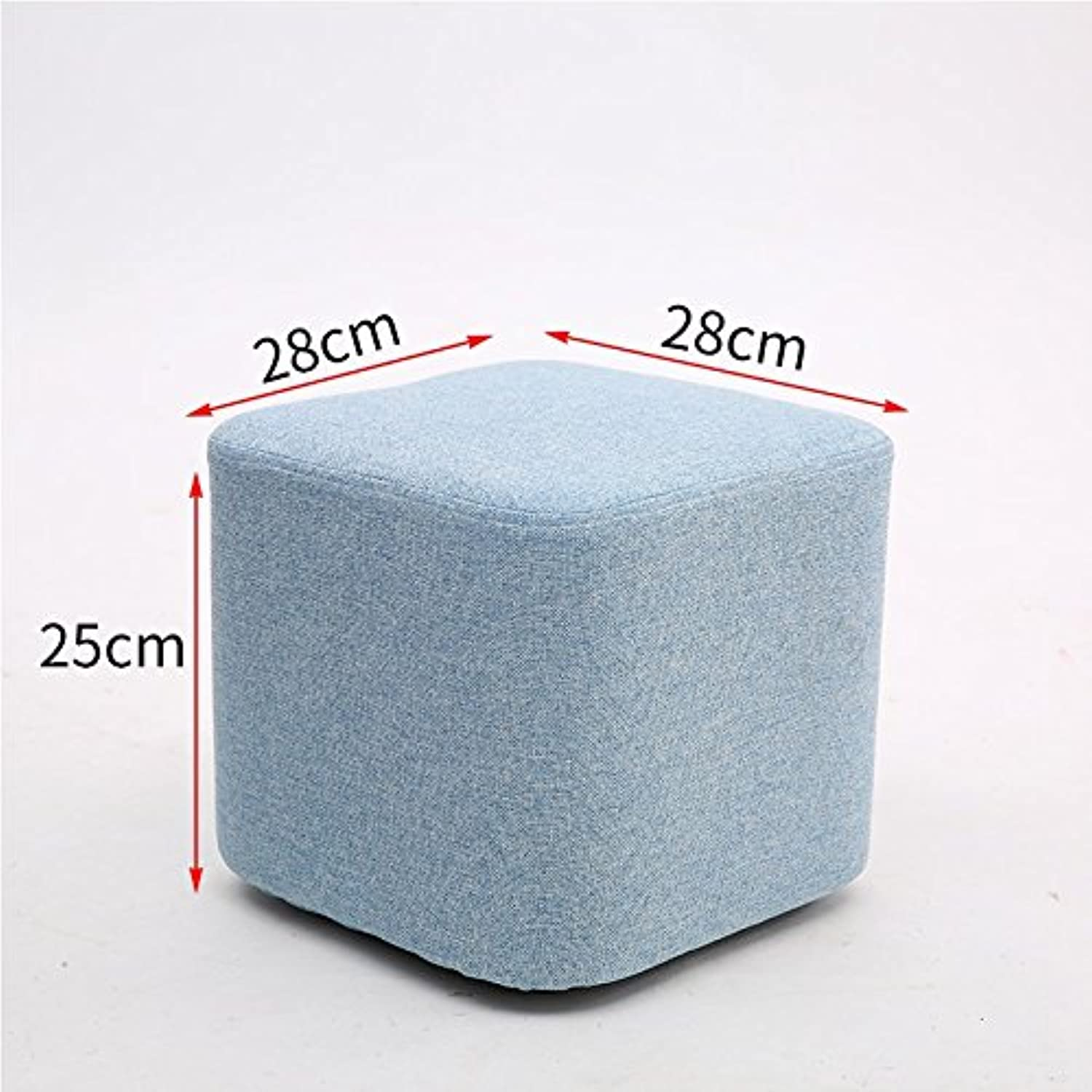 STJK BMJW Drinking Tea Thick Soft Stools Benches Fabrics Stool Home Independent Bedroom Light bluee