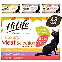 100% natural ingredients 100% grain free Luxury cat food 60% real meat pieces No artificial nasties!