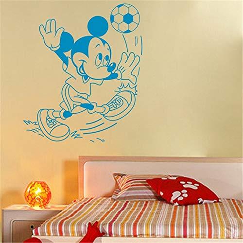 pegatina de pared frases Etiqueta engomada creativa de la historieta Diy Dormitorio Lindo Mickey Mouse Fútbol para habitaciones de niños Decoración del hogar