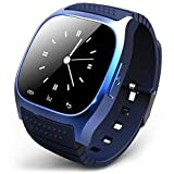 STK ブルートゥース 腕時計 ブルートゥースウォッチ スマートウォッチ ハンズフリー通話、時刻表示、置き忘れ通知、着信知らせ、温度計、距離測定 男女兼用腕時計 ブルー