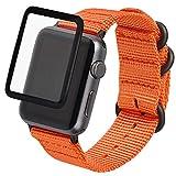 Zeit Diktator Compatible for Apple Watch Band 38mm 40mm 42mm 44mm,for Men Women, Quickfit Watch Band for Apple Watch Series 1/Series 2/Series 3/Series 4/Series 5,Optional Color (42mm, Orange)