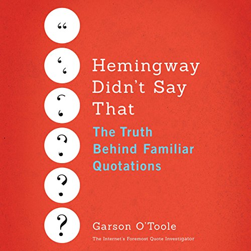 Hemingway Didn't Say That audiobook cover art