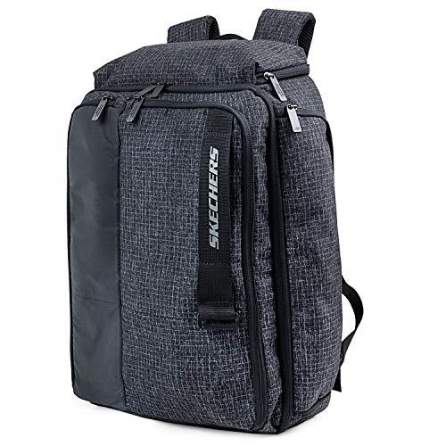 SKECHERS - Unisex-Rucksack für Erwachsene mit Ipad-Tablett in der Innentasche Ideal für den täglichen Gebrauch Bequeme Versáti S944, Color Schwarz