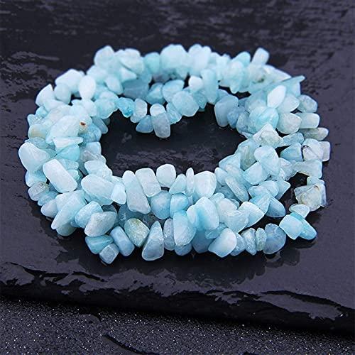 Qikafan Natural Lapis Opal Cuarzo Fluorita Ametes Freeform Chip Piedra Perras DIY Collar Pulsera Joyería Fabricación de 15