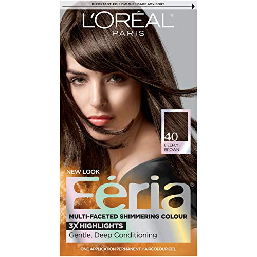 Price comparison product image L'Oreal Paris Feria Multi-Faceted Shimmering Permanent Hair Color,  40 Espresso,  Pack of 1,  Hair Dye