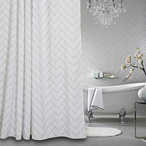 Aimjerry Hotel Qualität Weiße Schimmelresistent Stoff Duschvorhang Für Bad,Wasserabweisend