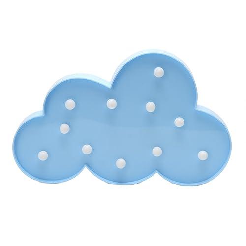 HiveNets LED Mood Light Up Novelty Design Warm Color Plastic Atmosphere Lamp for Indoor Decor (Cloud(Blue))