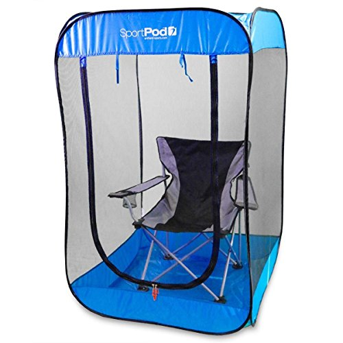 BugPod Undercover SportPod Pop Up Insect Screen Pod Tent - Royal Blue