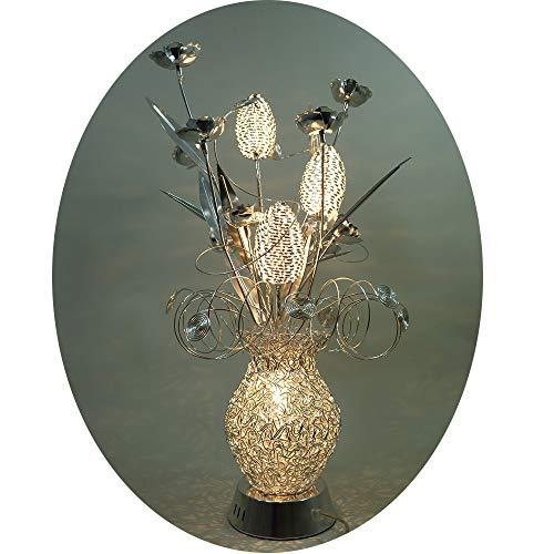 Ornella traumhafte 12V Halogen Draht Blumenleuchte inklusive 4 x G4 20 Watt Tischleuchte Vasenleuchte