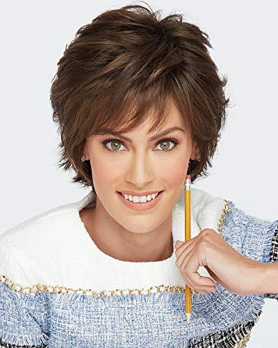 Hair u wear Peruca Raquel Welch Voltage Elite em camadas curtas R10 da VOLELTR10, castanha, 1 unidade