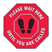 KEEY ラウンド社会distancing床記号 インチあなたの距離、6フィート維持インチ (人間と矢印 - 赤