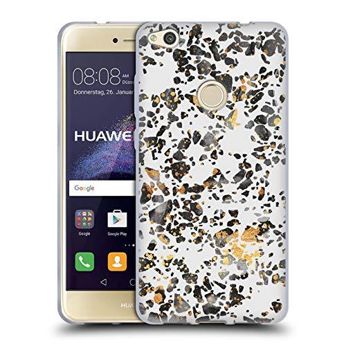 Head Case Designs Licenciado Oficialmente Elisabeth Fredriksson Terrazo Moteado Dorado Brillos Carcasa de Gel de Silicona Compatible con Huawei P8 Lite (2017)
