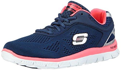 Skechers Flex Appeal - Love Your Style - Zapatillas de Deporte para Mujer, Color Azul, Talla 36