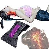 Zdcdy Distraktionsgeräte Nackenstützen Halskrausen, Zervikaler Traktionsfixateur, Tragbarer Cervical Halstraktion, für Nackenstütze Sofortentlastung bei chiropraktischen,Black-Purple