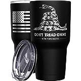 We The People Holsters - Gadsden Flag - Dont Tread On Me - Snake Tumbler - American Flag Coffee Travel Mug - American Made Travel Mug - Double Insulated Tumbler - 30 oz