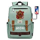 DDDWWW Harry Potter Mochila Retro Juventud Moda Eisure León Mochila Gryffindor Mochila portátil 42CM/30CM/16CM Verde