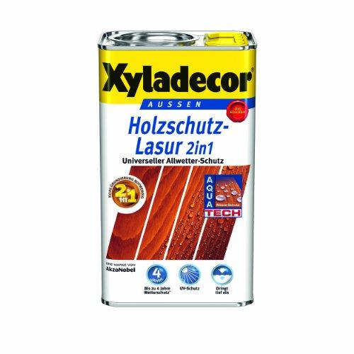 Xyladecor Holzschutzlasur 2in1 Aussen, 5 Liter, Farbton Ebenholz
