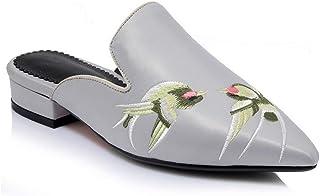 BalaMasa Womens Embroidered Travel Urethane Sandals ASL05844